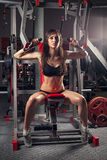 A mulher da paixão no salão de esportes Imagem de Stock Royalty Free