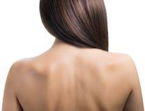 Mulher da parte traseira. foto de stock
