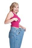 Mulher da perda de peso foto de stock