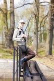 Mulher da pesca Foto de Stock Royalty Free