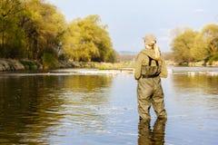 Mulher da pesca imagens de stock
