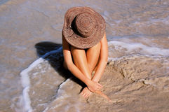 Mulher da praia fotos de stock