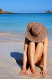 Mulher da praia foto de stock royalty free