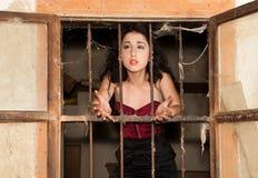 Mulher da prisão Fotografia de Stock Royalty Free