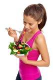 Mulher da salada imagens de stock royalty free