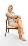 Mulher da sexualidade no vestido Fotografia de Stock Royalty Free