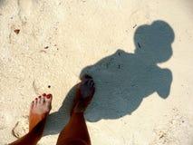Mulher da sombra com chapéu Imagem de Stock