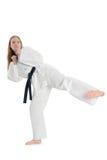 Mulher das artes marciais imagem de stock