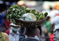 Mulher de Ásia do mercado do alimento de Camboja Imagem de Stock Royalty Free