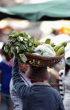 Mulher de Ásia do mercado do alimento de Camboja Foto de Stock Royalty Free