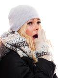 Mulher de AShocked Foto de Stock