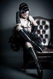 Mulher de assento com carregadores do ballett Imagens de Stock Royalty Free