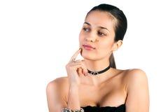 Mulher de Beautifu no branco fotos de stock royalty free