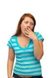 Mulher de bocejo Imagem de Stock