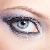 A mulher de brilho eyes a composição Fotos de Stock Royalty Free