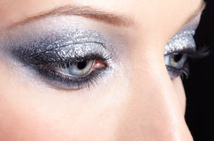 A mulher de brilho eyes a composição Imagens de Stock
