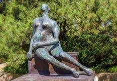 Mulher de bronze imagem de stock
