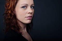 Mulher de cabelo vermelha Foto de Stock