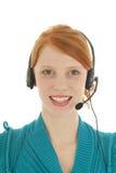 Mulher de cabelo vermelha nova com grupo da cabeça Imagem de Stock