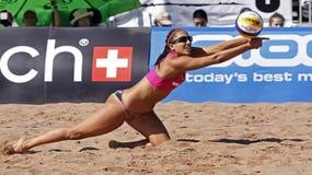 Mulher de Canadá do voleibol da praia Foto de Stock Royalty Free