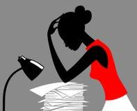 Mulher de carreira ilustração stock