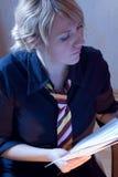 Mulher de carreira ocupada Fotos de Stock