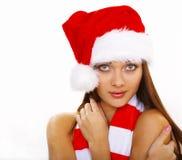 Mulher de Christmass Fotografia de Stock