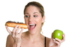 Mulher de dieta imagens de stock