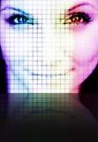 Mulher de Digitas Imagens de Stock