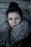 Mulher de Elegant.Beautiful no inverno. Modelo de forma Girl da beleza na Imagens de Stock