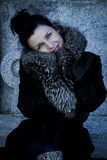 Mulher de Elegant.Beautiful no inverno. Modelo de forma Girl da beleza na Fotos de Stock