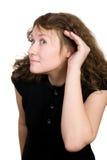 Mulher de escuta Fotografia de Stock
