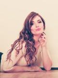 Mulher de fascínio 'sexy' Rapariga sensual imagens de stock royalty free