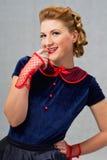 Mulher de Flirty Imagem de Stock