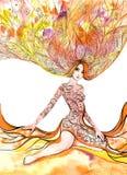 Mulher de florescência Fotografia de Stock