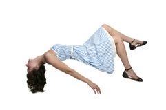 Mulher de flutuação Imagens de Stock Royalty Free