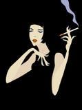 Mulher de fumo ilustração do vetor