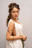 Mulher de Grécia foto de stock royalty free