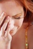 Mulher de grito Imagem de Stock