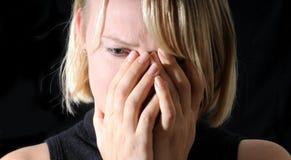 Mulher de grito Fotos de Stock Royalty Free