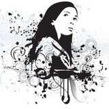 Mulher de Grunge ilustração stock