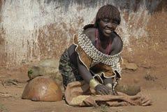 Mulher de Hamar no trabalho Imagens de Stock