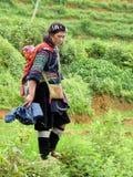 Mulher de Hmong imagem de stock royalty free