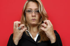 Mulher de Irated imagens de stock royalty free
