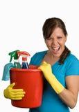 Mulher de limpeza fotos de stock royalty free