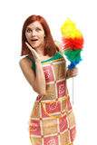 Mulher de limpeza nova Imagem de Stock