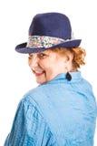 Mulher de meia idade Flirty bonito Fotos de Stock Royalty Free