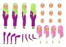 Mulher de negócio árabe ilustração do vetor