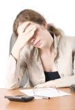 A mulher de negócio é II tired Imagens de Stock Royalty Free