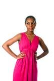 Mulher de negócio africana no vestido fotos de stock